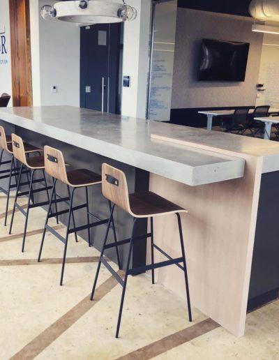 stone crete artistry concrete countertops nashville bar top