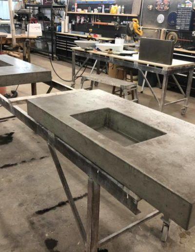 stone crete artistry concrete countertops nashville install process 5