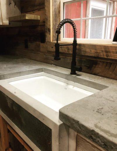 stone crete artistry concrete countertops nashville kitchen farmhouse sink