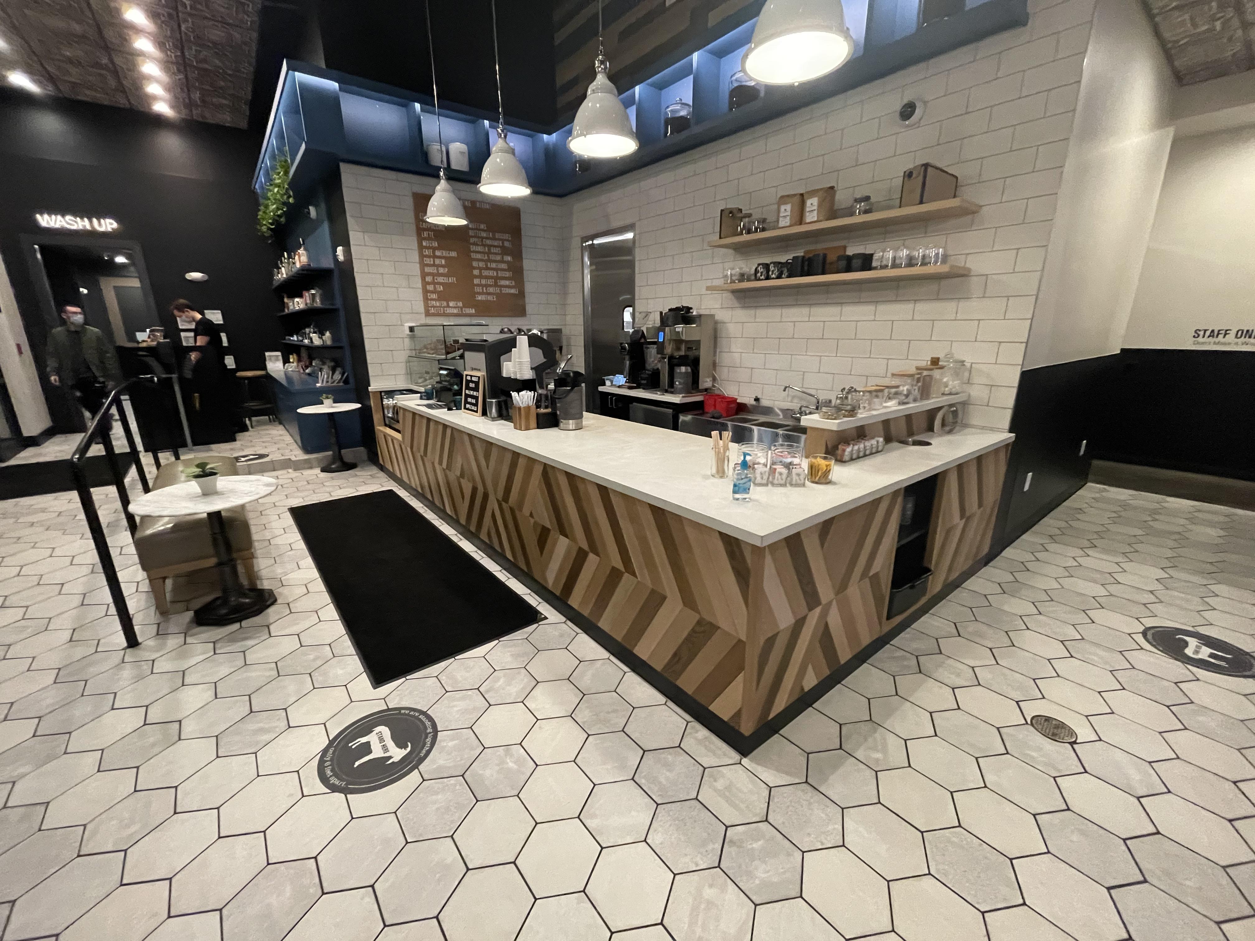 coffee shop countertop bartop concrete custom nashville