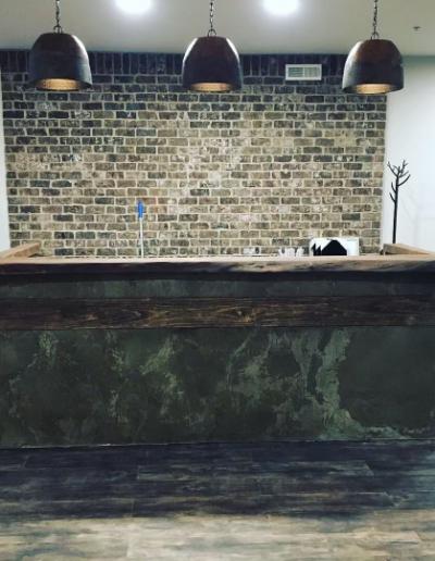 concrete countertop bar