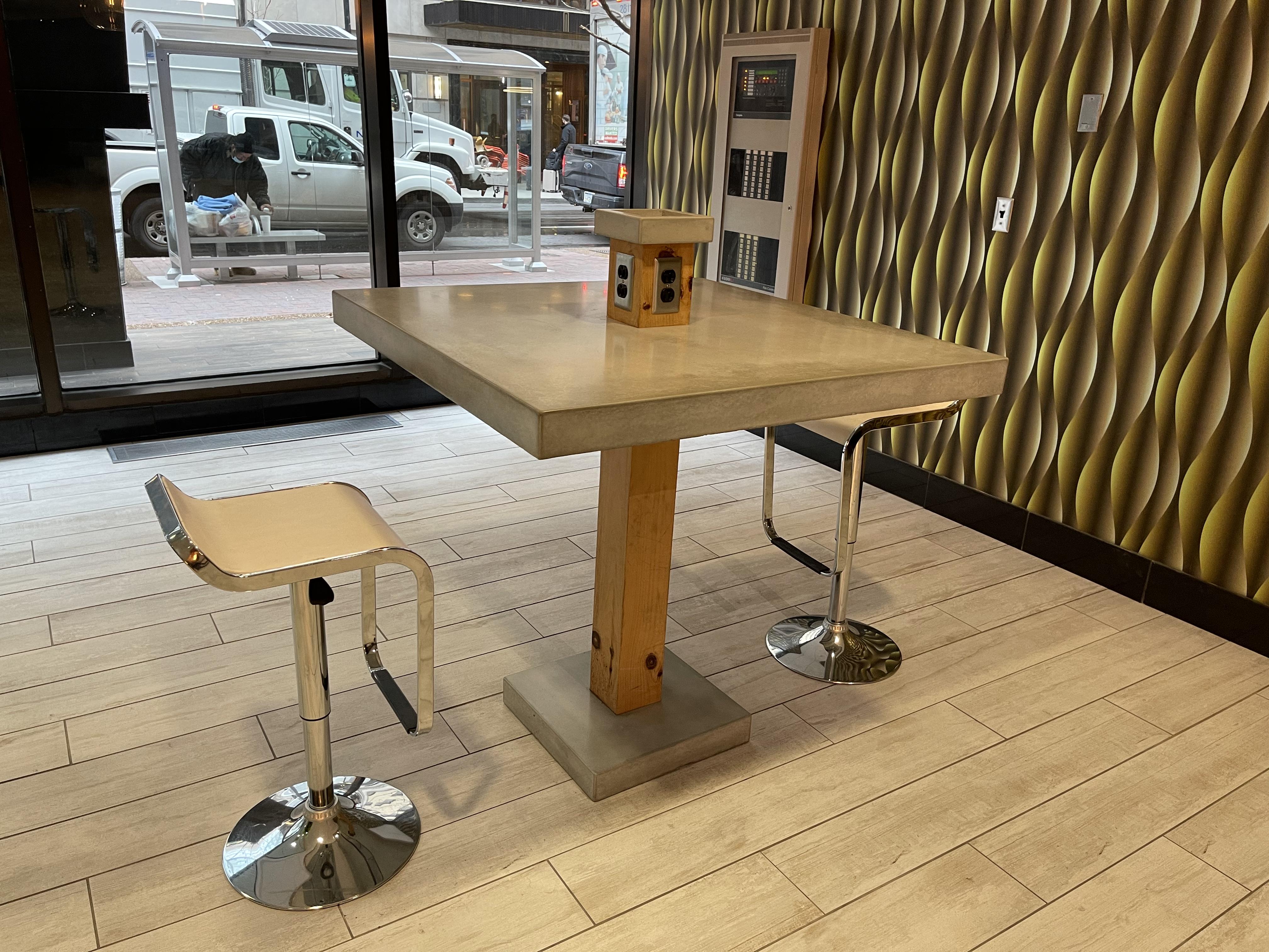 concrete custom restaurant table nashville