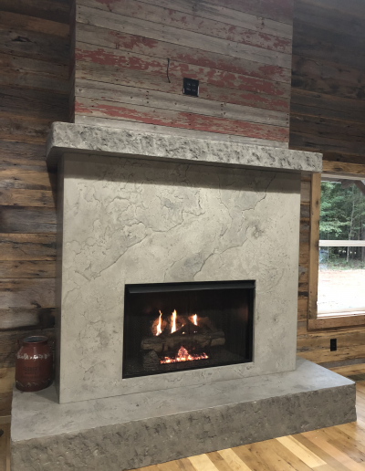 concrete fireplace custom nashville tn cement