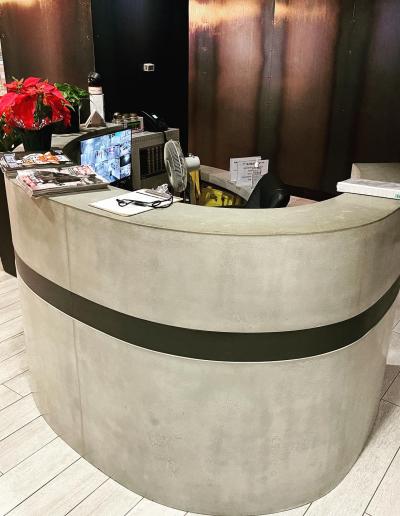 concrete reception desk nashville