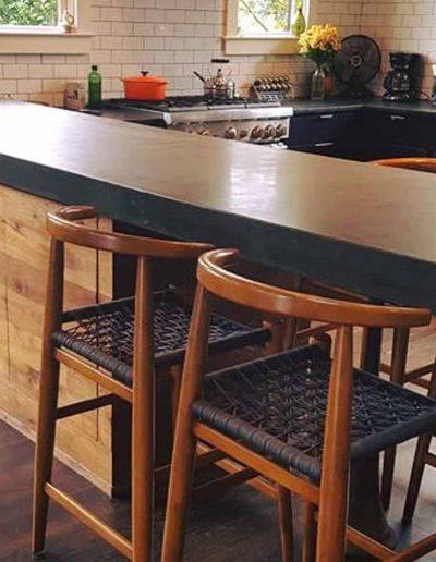 Dark Concrete Custom Kitchen Countertop
