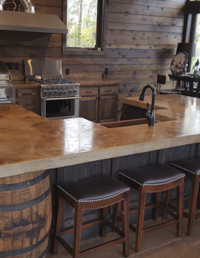 """Jack Daniels Whiskey Kitchen"" by Stone-Crete Artistry"